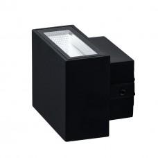 Настенный светильник De Markt 807022901 Меркурий 2*4W LED 220 V IP44 черный