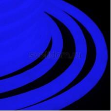 Гибкий неон светодиодный 360, постоянное свечение, синий, 220V, бухта 50м, Neon-Night 131-033