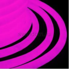 Гибкий неон светодиодный 360, постоянное свечение, розовый, 220V, бухта 50м, Neon-Night 131-037