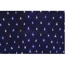 """Светодиодная гирлянда """"Сеть"""" 2х0,7м, черный провод, 176 LED белый/cиние, Neon-Night 215-012"""