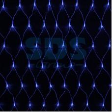 """Гирлянда """"Сеть"""" 2х1,5м, свечение с динамикой, прозрачный провод, 288 LED, 230V, синий, Neon-Night 215-043"""