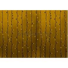 """Гирлянда """"Светодиодный Дождь"""" 2*1,5м, постоянное свечение, черный провод, 220V, желтый, Neon-Night 235-121"""