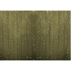 """Гирлянда """"Светодиодный Дождь"""" 2*1,5м, постоянное свечение, прозрачный провод, 220V, теплый белый, Neon-Night 235-306"""