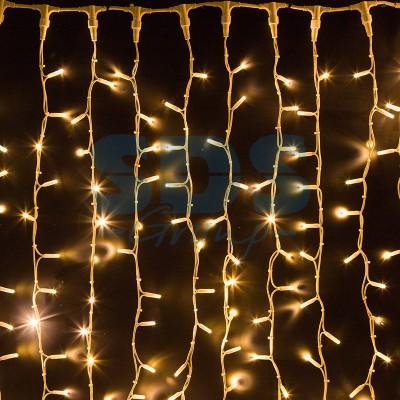 """Гирлянда """"Светодиодный Дождь"""" 2х1,5м, постоянное свечение, белый провод, 230V, теплый белый, 360 LED, Neon-Night 237-116"""