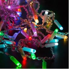 """Гирлянда """"Светодиодный Дождь"""" 2х3м, прозрачный провод, 230V, RGB, 600 LED свечение с динамикой при приобитении контроллера 245-907, Neon-Night 245-319"""