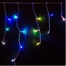 Гирлянда Айсикл (бахрома) светодиодный, 1,8 х 0,5 м, прозрачный провод, 230V, RGB, Neon-Night 255-009