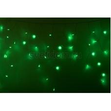Гирлянда Айсикл (бахрома) светодиодный, 2,4 х 0,6 м, черный провод, 230V, зеленый, 88 LED, Neon-Night 255-044
