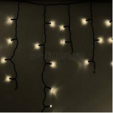 Гирлянда Айсикл (бахрома) светодиодный, 2,4 х 0,6 м, черный провод, 230V, теплый белый, 88 LED, Neon-Night 255-046