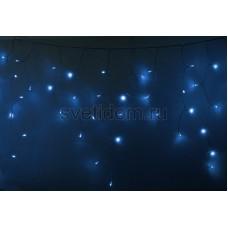 Гирлянда Айсикл (бахрома) светодиодный, 2,4 х 0,6 м, прозрачный провод, 230V, синий, 88 LED, Neon-Night 255-053