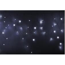 Гирлянда Айсикл (бахрома) светодиодный, 2,4 х 0,6 м, прозрачный провод, 230V, белый, 88 LED, Neon-Night 255-055