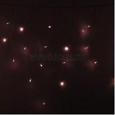 Гирлянда Айсикл (бахрома) светодиодный, 4,8 х 0,6 м, прозрачный провод, 230V, розовое золото, 176 LED, Neon-Night 255-147