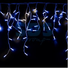 """Гирлянда """"Айсикл"""" 4,8х0,6 м, с эффектом мерцания, белый провод, 176 LED, синий, 220В, Neon-Night 255-163"""