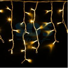 Гирлянда Айсикл (бахрома) светодиодный, 4,0 х 0,6 м, белый провод, 230V, желтый, 128 LED, Neon-Night 255-201
