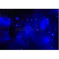 Гирлянда светодиодная Айсикл (бахрома), 5,6*0,9 м, с эффектом мерцания,черный провод, 220V, синий, Neon-Night 255-253