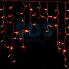 Гирлянда Айсикл (бахрома) светодиодный, 5,6 х 0,9 м, белый провод, 230V, красный, 240 LED, Neon-Night 255-282