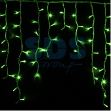 Гирлянда Айсикл (бахрома) светодиодный, 5,6 х 0,9 м, белый провод, 230V, зеленый, 240 LED, Neon-Night 255-284