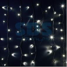 Гирлянда Айсикл (бахрома) светодиодный, 6,0 х 1,5 м, черный провод, 230V, белый, 480 LED, Neon-Night 255-295