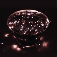 """Гирлянда """"Твинкл Лайт"""" 10 м, черный провод, 100 диодов, розовое золото (Rose Gold), Neon-Night 303-138"""
