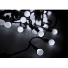"""Гирлянда """"Мультишарики"""" d45мм, 10 м, черный провод, 40 LED, белый, Neon-Night 303-575"""