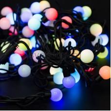 Гирлянда Мультишарики d23 мм, 10 м, черный провод, 80 LED, свечение с динамикой, цвет RGB, Neon-Night 303-599