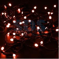 Гирлянда Нить 10м, постоянное свечение, черный провод, 24V, красный, Neon-Night 305-142