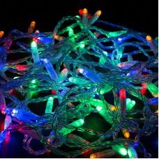 Гирлянда Нить 10м, постоянное свечение, прозрачный провод, 24V, RGB, Neon-Night 305-159