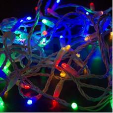 Гирлянда Нить 10м, постоянное свечение, белый провод, 230V, RGB, Neon-Night 305-169
