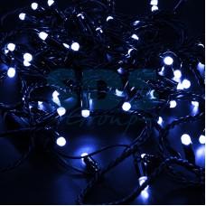 Гирлянда Нить 10м, постоянное свечение, черный провод, 230V, синий, Neon-Night 305-173