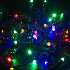 Гирлянда Нить 10м, постоянное свечение, черный провод, 230V, RGB, Neon-Night 305-179
