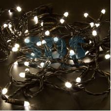 Гирлянда Нить 10м, с эффектом мерцания, черный провод, 24V, теплый белый, Neon-Night 305-246