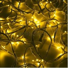 """Гирлянда модульная """"Дюраплей LED"""" 20м 200 LED, белый провод, желтый, Neon-Night 315-141"""