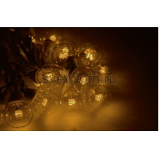 Гирлянда LED Galaxy Bulb String 10м, белый провод, 25 ламп*6 LED желтые, влагостойкая IP54, Neon-Night 331-301