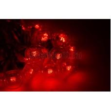 Гирлянда LED Galaxy Bulb String 10м, черный провод, 30 ламп*6 LED красные, влагостойкая IP54, Neon-Night 331-322