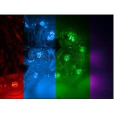 Гирлянда LED Galaxy Bulb String 10м, черный провод, 30 ламп*6 LED мульти, влагостойкая IP54, Neon-Night 331-329