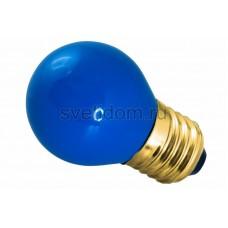 Лампа накаливания Е27 10 Вт синий колба, Neon-Night 401-113