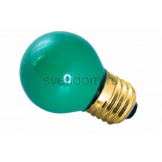 Лампа накаливания Е27 10 Вт зеленый колба, Neon-Night 401-114