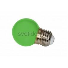 Лампа шар Е27 3 LED d45мм - зеленый, Neon-Night 405-114
