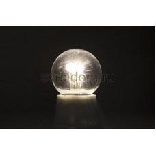 Лампа шар Е27 6 LED d45мм - белая, прозрачная колба, эффект лампы накаливания, Neon-Night 405-125