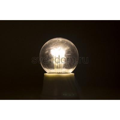 Лампа шар Е27 6 LED d45мм - теплый белый, прозрачная колба, эффект лампы накаливания, Neon-Night 405-126