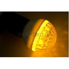 Лампа шар Е27 9 LED d50мм желтый, Neon-Night 405-211