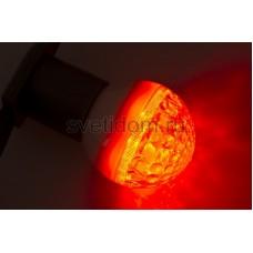 Лампа шар Е27 9 LED d50мм красный, Neon-Night 405-212