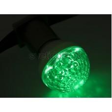 Лампа шар Е27 10 LED d50мм зеленый 24V, Neon-Night 405-614