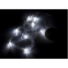 """Фигура светодиодная """"Снеговик"""" на присоске с подвесом, белый, Neon-Night 501-013"""