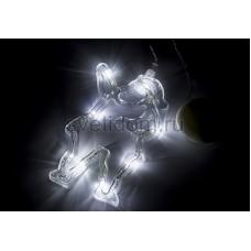 "Фигура светодиодная ""Санта Клаус"" на присоске с подвесом, белый, Neon-Night 501-018"