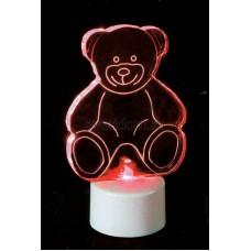 """Фигура светодиодная на подставке """"Мишка 2D"""", RGB, Neon-Night 501-047"""