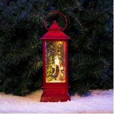 """Декоративный фонарь с эффектом снегопада и подсветкой """"Дед Мороз"""", теплый белый, Neon-Night 501-062"""