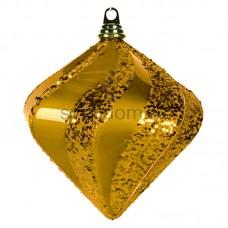 """Елочная фигура """"Алмаз"""", 20 см, цвет золотой, Neon-Night 502-206"""