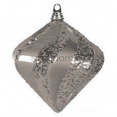 "Елочная фигура ""Алмаз"", 25 см, цвет серебряный, Neon-Night 502-216"