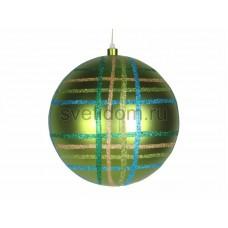 """Елочная фигура """"Шар в клетку"""" 25 см, цвет зеленый мульти, Neon-Night 502-264"""