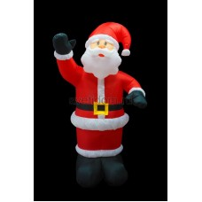 """Надувная 3D фигура """"Дед Мороз приветствует"""", высота 180 см, внутренняя подсветка 5 ламп, Neon-Night 511-114"""